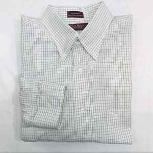 Jos A Bank - Pima Cotton - White & Navy - Large